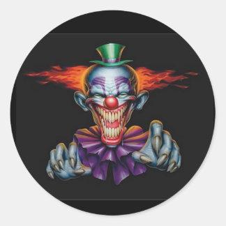 Killer Evil Clown Classic Round Sticker