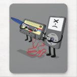 Killer Ipod Clipart (Retro Floppy Disk Cassette) Mouse Pad