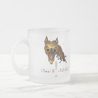 Killer Laughs – ZooDo Illustration Frosted Glass Coffee Mug