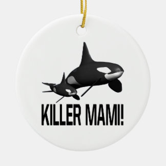 Killer Mami Double-Sided Ceramic Round Christmas Ornament