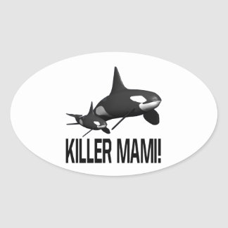 Killer Mami Oval Sticker