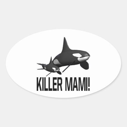 Killer Mami Oval Sticker