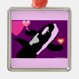 Killer of a Valentine Whale gift collection Ornament