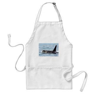 Killer Orca Male Whale San Juan Island Adult Apron