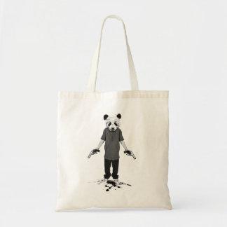 Killer panda canvas bag