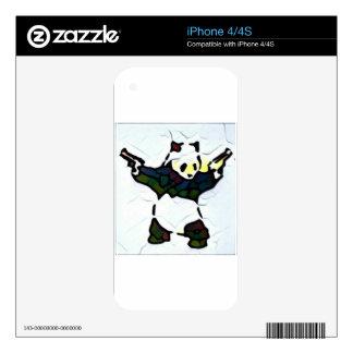 Killer Panda iPhone 4S Decals