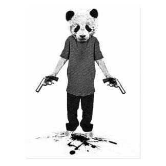 Killer panda postcard