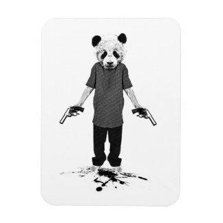 Killer panda rectangular photo magnet