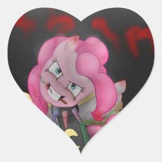 killer pony heart sticker