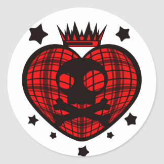 KILLER_QUEEN CLASSIC ROUND STICKER