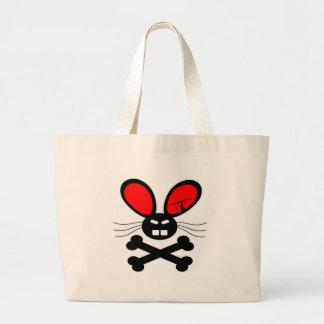 Killer Rabbit Cartoon Tote Bag