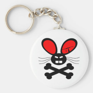 Killer Rabbit Cartoon Keychain