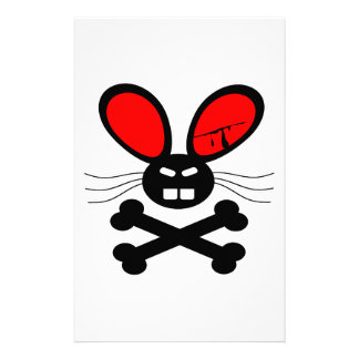 Killer Rabbit Cartoon Stationery