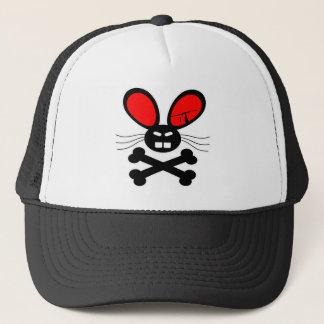 Killer Rabbit Cartoon Trucker Hat