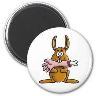 killer rabbit imán redondo 5 cm