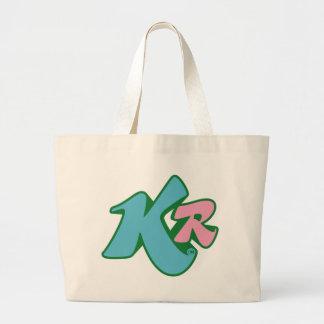 Killer Red inital logo Large Tote Bag