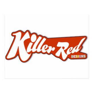 Killer Red retro logo design Postcard