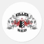 Killer Red Round Sticker