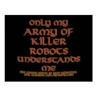 Killer Robot Joke Postcards