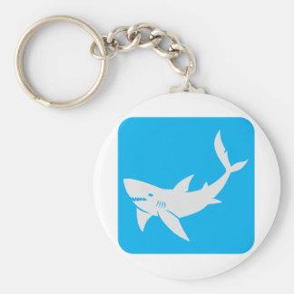 Killer Shark Icon Basic Round Button Keychain