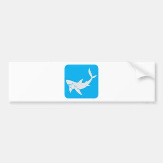 Killer Shark Icon Bumper Sticker