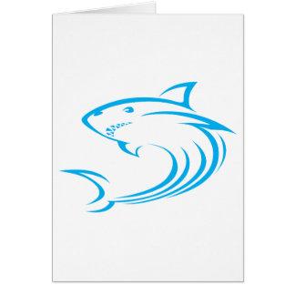 Killer Shark in Swish Drawing Style Greeting Card