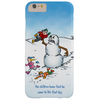 Killer Snowman Funny Cartoon Barely There iPhone 6 Plus Case