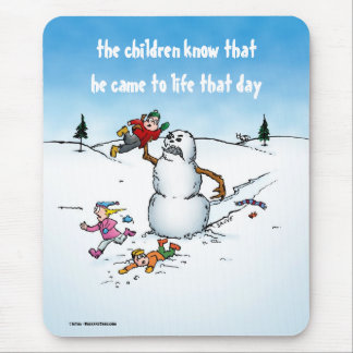 Killer Snowman Funny Cartoon Mousepad