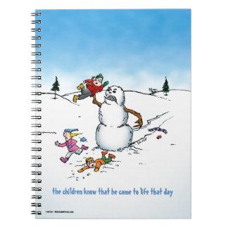 Killer Snowman Funny Cartoon Notebook