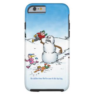 Killer Snowman Funny Cartoon Tough iPhone 6 Case