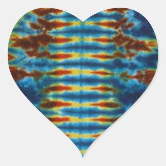 Killer Stripe Tie Dye PhatDyes Heart Sticker