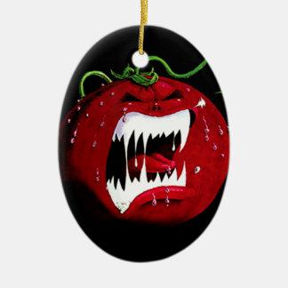Killer Tomato Ceramic Ornament