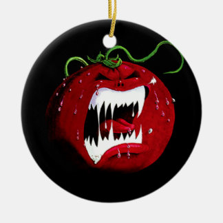 Killer Tomato Ceramic Ornament