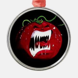 Killer Tomato Metal Ornament