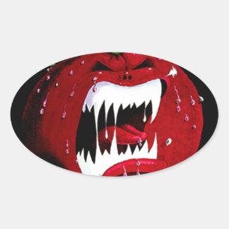 Killer Tomato Oval Sticker