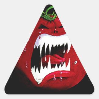 Killer Tomato Triangle Sticker