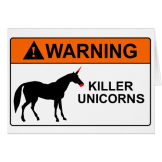 Killer Unicorns Card