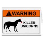 Killer Unicorns Greeting Card