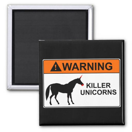 Killer Unicorns Refrigerator Magnets