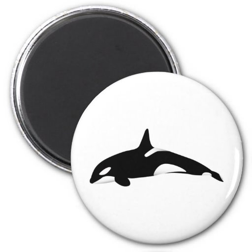 Killer Whale 2 Inch Round Magnet