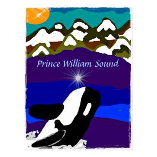 Killer Whale Breaches for the Light Prince William Postcard