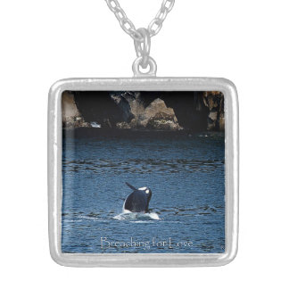 Killer Whale Breaching for love necklace