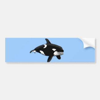 killer whale car bumper sticker