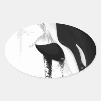 Killer Whale by Crem Oval Sticker