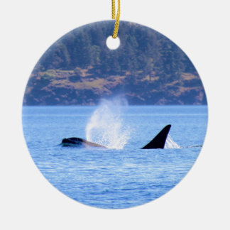 Killer Whale Ceramic Ornament