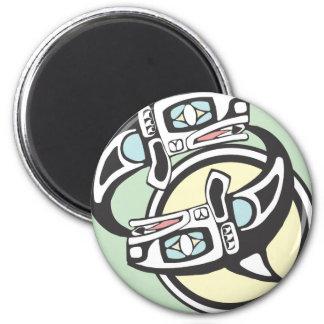 Killer Whale Circle Magnet