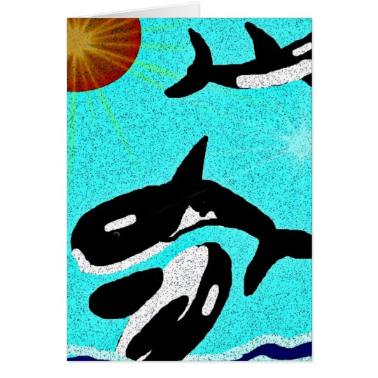 Killer Whale Dancing for life collectionA Card