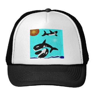 Killer Whale Dancing for life collectionA Trucker Hat