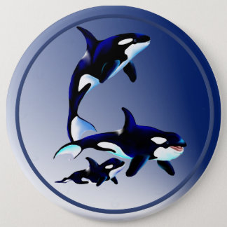 Killer Whale Family Buttons