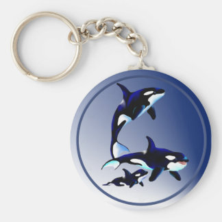 Killer Whale Family Keychains